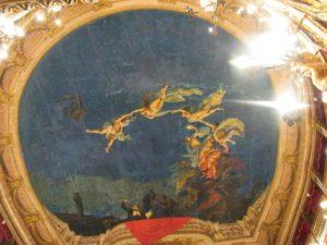 Deckenfresko Teatro Verdi a Salerno